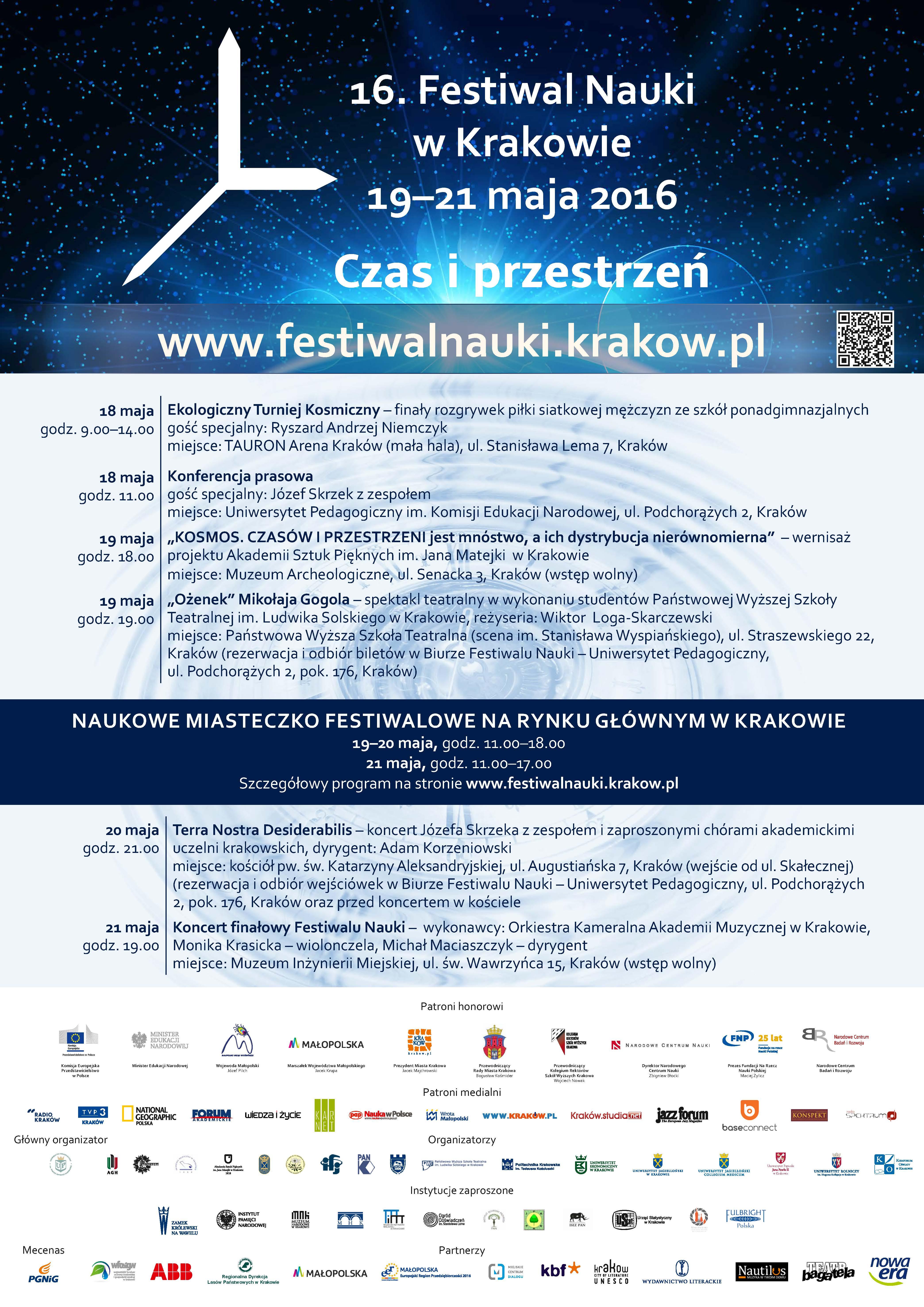 Plakat Festiwal Nauki